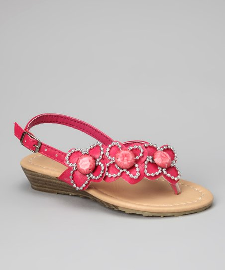 Fuchsia Flower QQ-19 Sandal