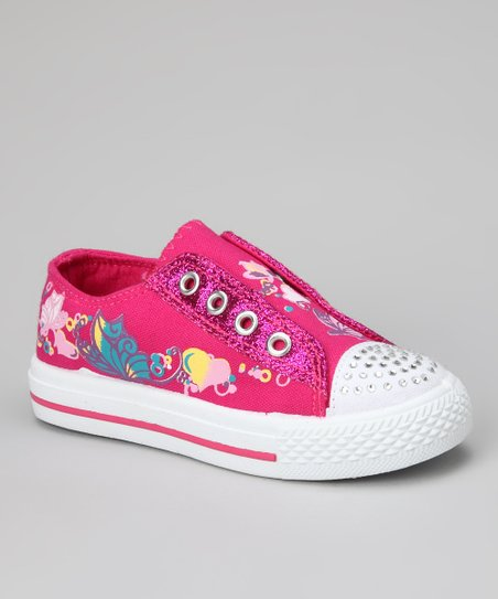 Fuchsia Star-10 Slip-On Sneaker