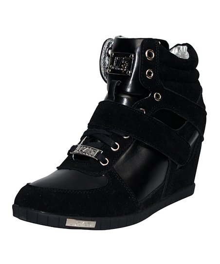 Black Aurora Wedge Sneaker
