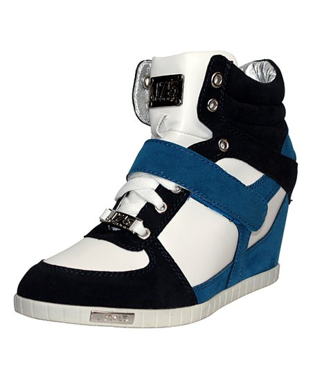 Navy Aurora Wedge Sneaker