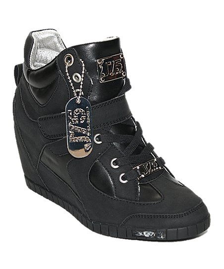 Black Adele Wedge Sneaker
