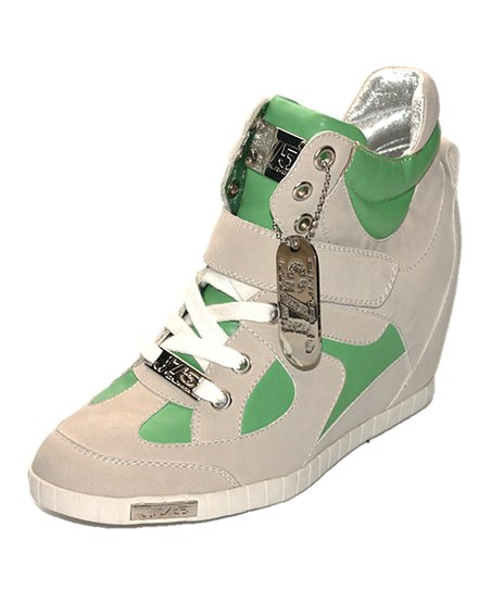 Lime Adele Wedge Sneaker