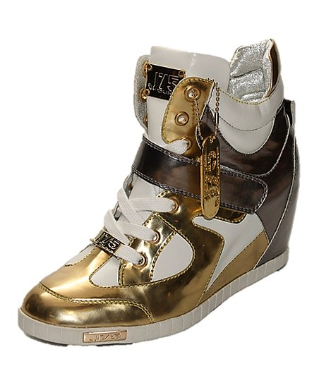 Gold & Silver Adele Wedge Sneaker