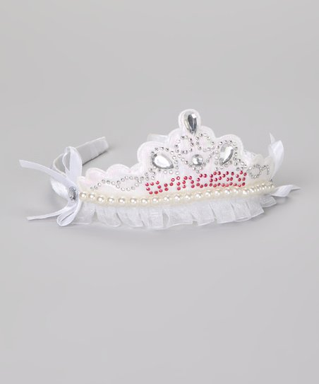White Princess Tiara Headband