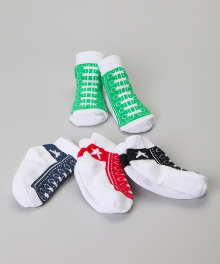 Red & Blue Hi-Top Sock Set