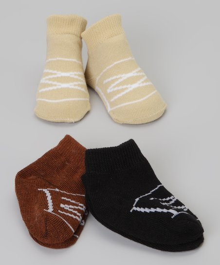 Black & Brown Shoe Sock Set