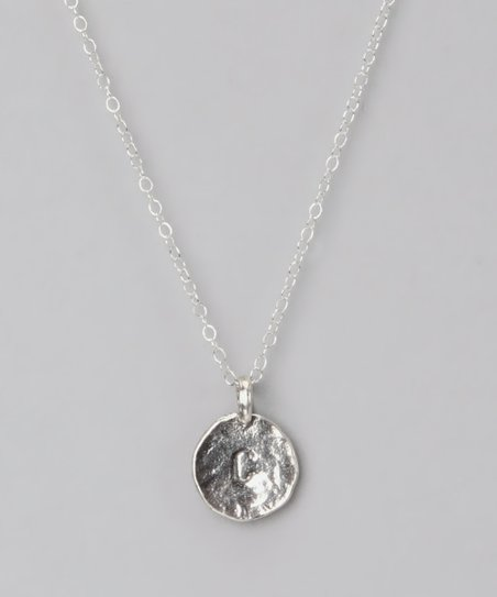 Sterling Silver 'C' Pendant Necklace