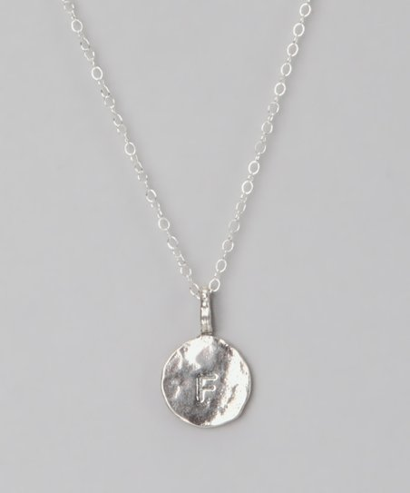 Sterling Silver 'F' Pendant Necklace