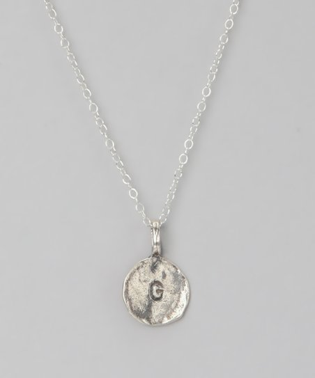 Sterling Silver 'G' Pendant Necklace
