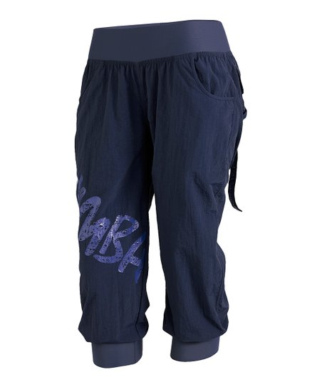 Indigo Feelin' It Cargo Capri Pants