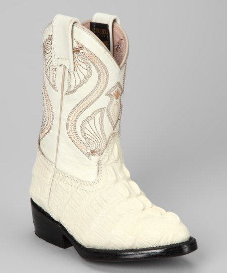 Bone Cowboy Boot - Kids