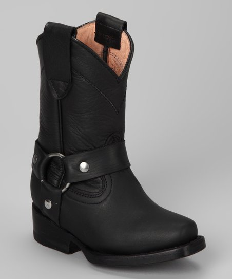 Black Buckle Boot - Kids