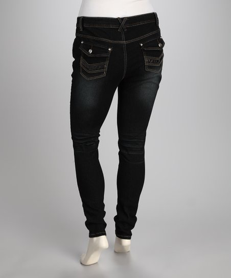 Dark Wash Perfect Skinny Jeans - Plus