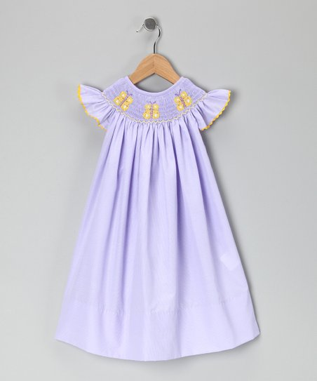 Lavender Butterfly Bishop Dress - Infant, Toddler & Girls