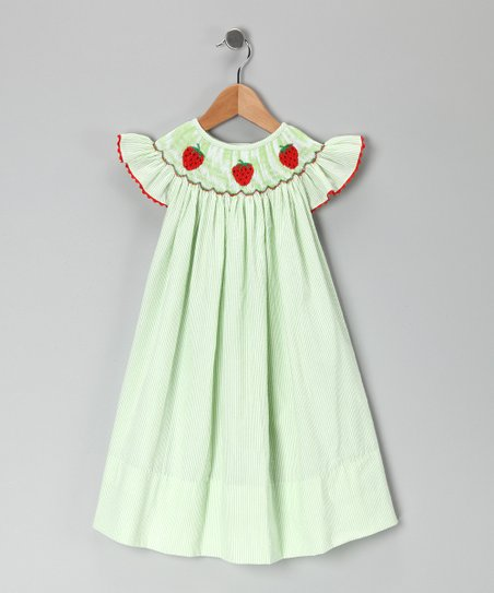 Lime Strawberry Bishop Dress - Infant, Toddler & Girls