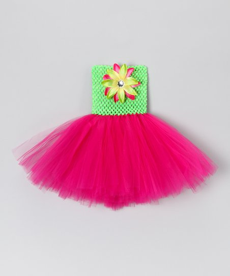 Lime &amp; Hot Pink Dress - Infant, Toddler &amp; Girls