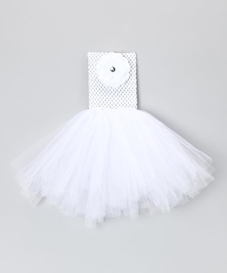 White Flower Dress - Infant