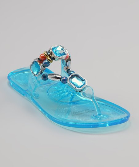 Sweet Girl Blue Crystal Sandal