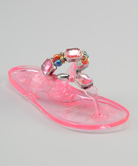 Sweet Girl Pink Crystal Sandal