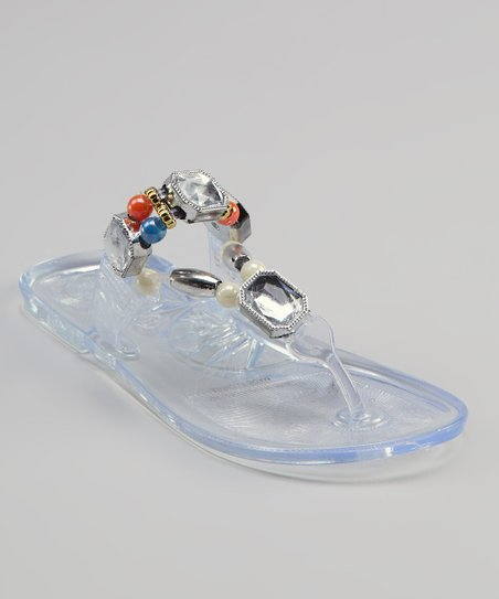 Sweet Girl Transparent Crystal Sandal