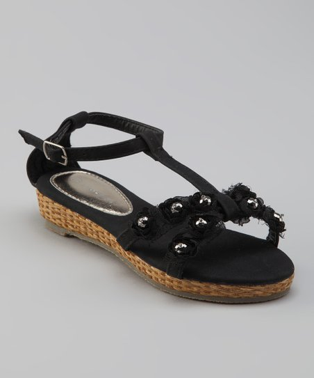 Sweet Girl Black Pie Sandal