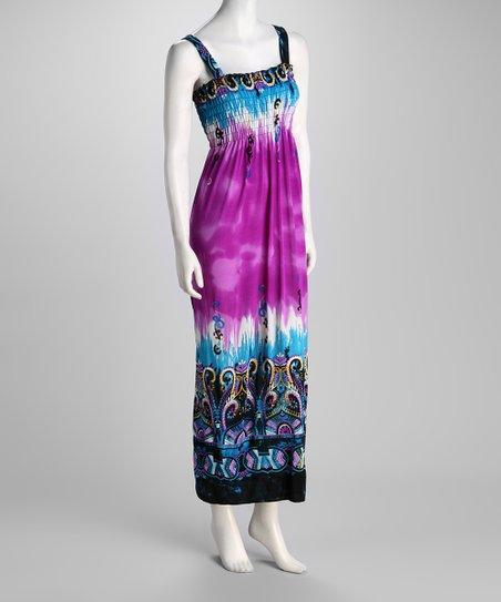 Purple Abstract Maxi Dress