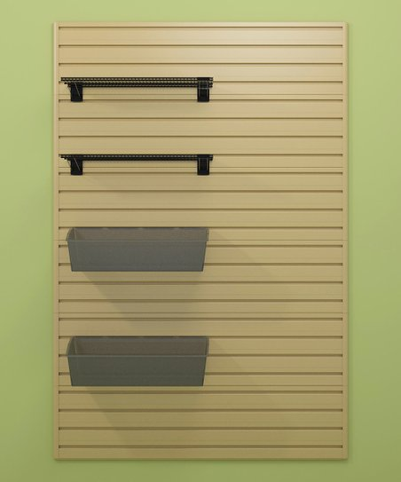 Maple Shelf & Bin Flow Wall Organizer