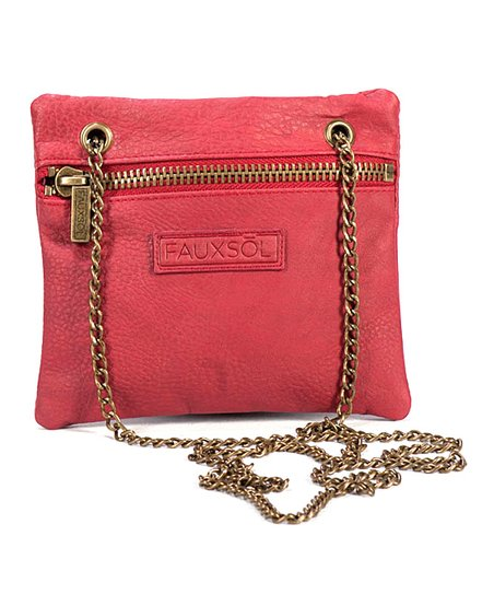 Burgundy Chain Reaction Crossbody Bag