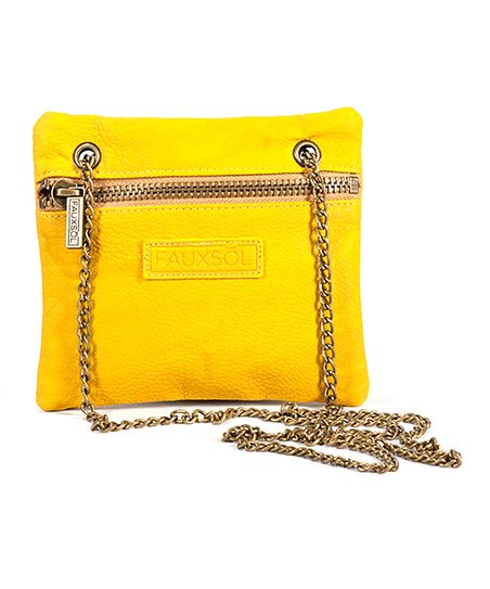 Yellow Chain Reaction Crossbody Bag