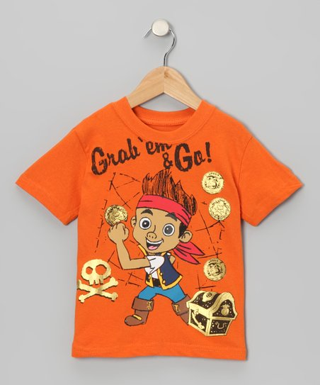 Orange 'Grab 'Em and Go!' Tee - Toddler