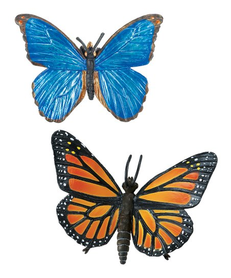 Monarch Butterfly & Blue Morpho Butterfly