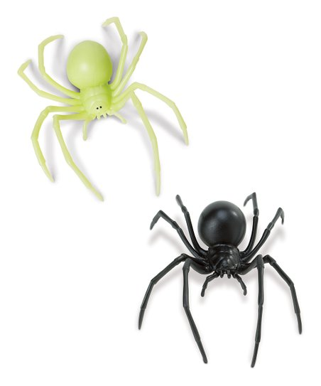 Glow-in-the-Dark Black Widow Spider & Black Widow Spider