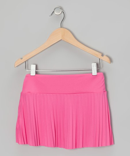 Fuchsia Pleated Skirt - Girls