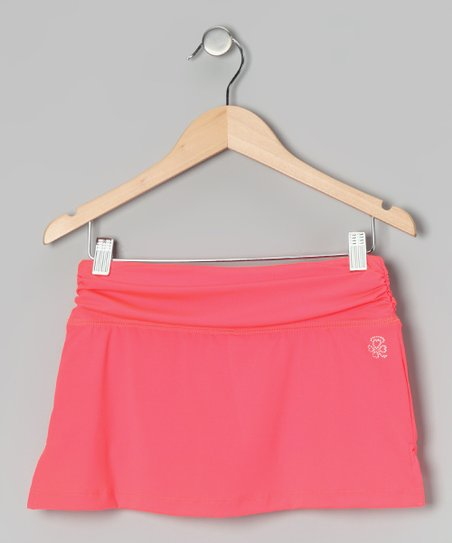 Coral Shirred Skort - Girls