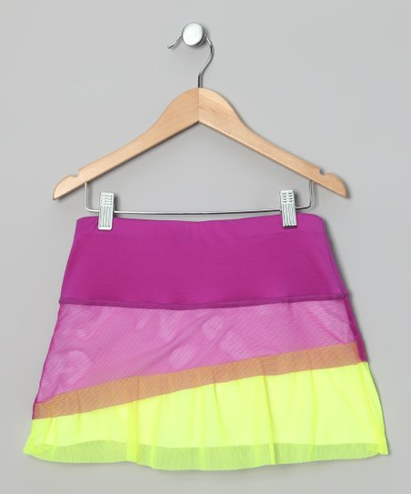 Purple Ruffle Skort - Girls