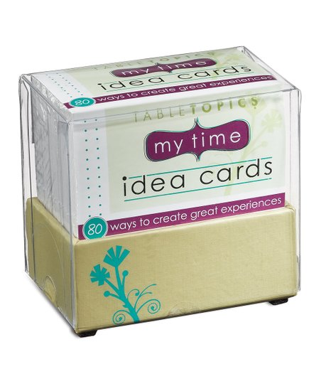 My Time Idea Cards