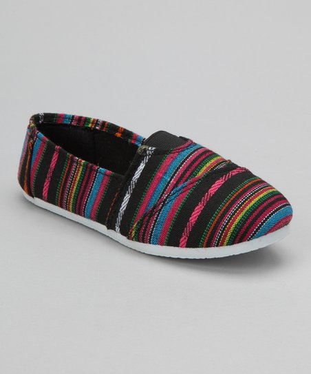 Black Stripe Slip-On Shoe