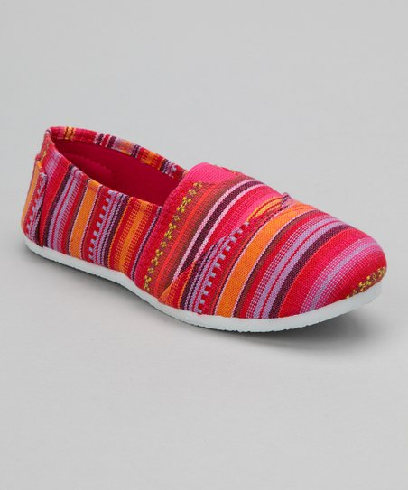 Fuchsia Stripe Slip-On Shoe