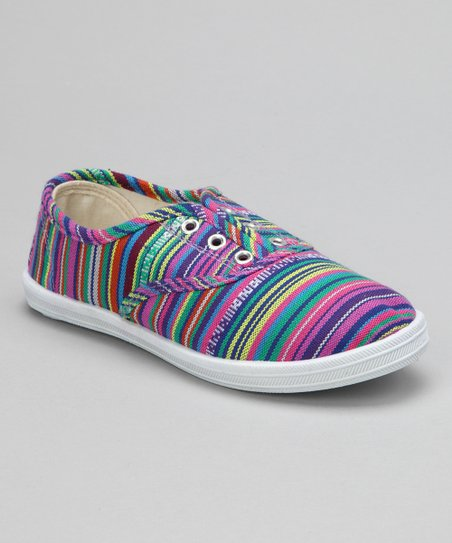 Purple Stripe Slip-On Sneaker