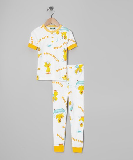Yellow 'Splish Splash' Pajama Set - Infant, Toddler & Kids