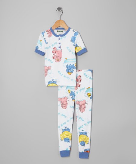 Blue 'Rub a Dub' Pajama Set - Infant