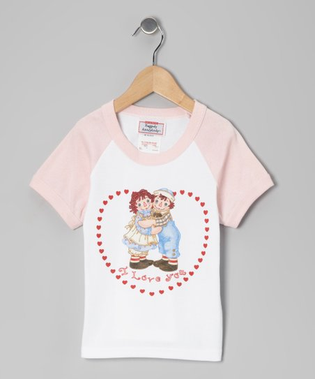 Pink Raggedy Ann 'I Love You' Raglan Tee - Toddler & Kids
