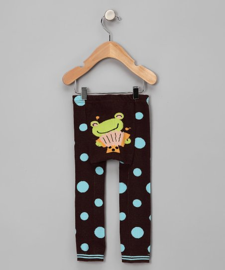 Brown Polka Dot Musical Frog Leggings