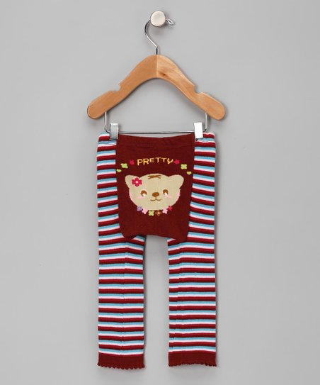 Brown Pretty Kitty Leggings - Infant