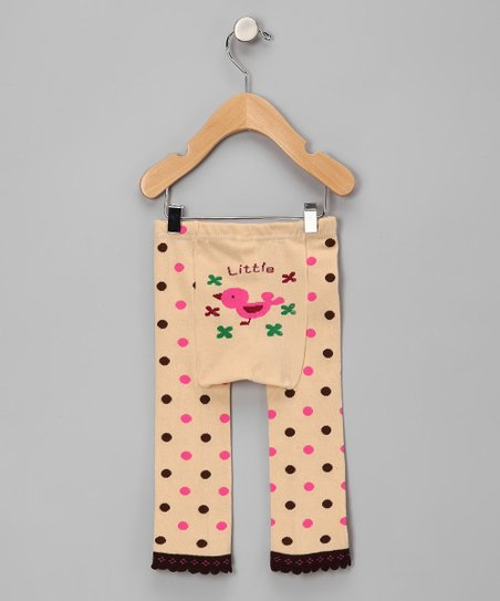 Tan Polka Dot Tweety Bird Leggings