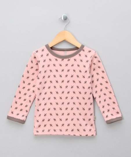 Rosa Elk Organic Long-Sleeve Tee - Infant, Toddler & Girls