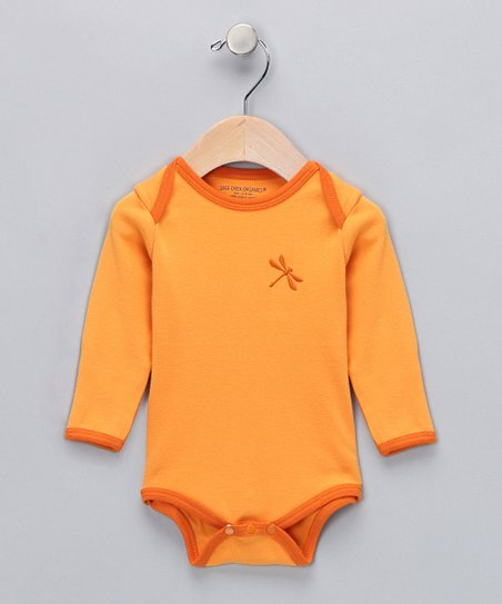 Apricot Dragonfly Organic Bodysuit - Infant