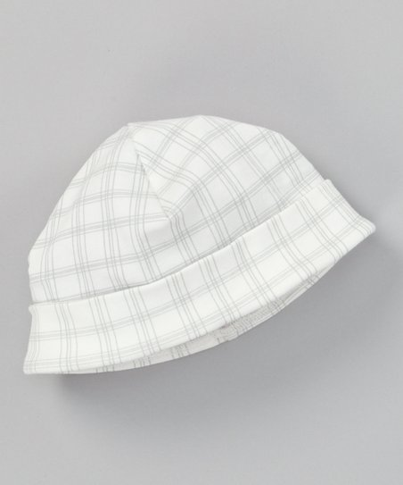 Gray Plaid Organic Beanie