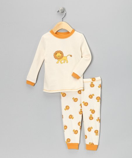 Tan Lion Organic Pajama Set - Infant, Toddler &amp; Boys