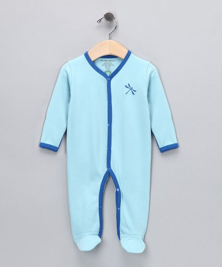 Powder Blue Dragonfly Organic Footie